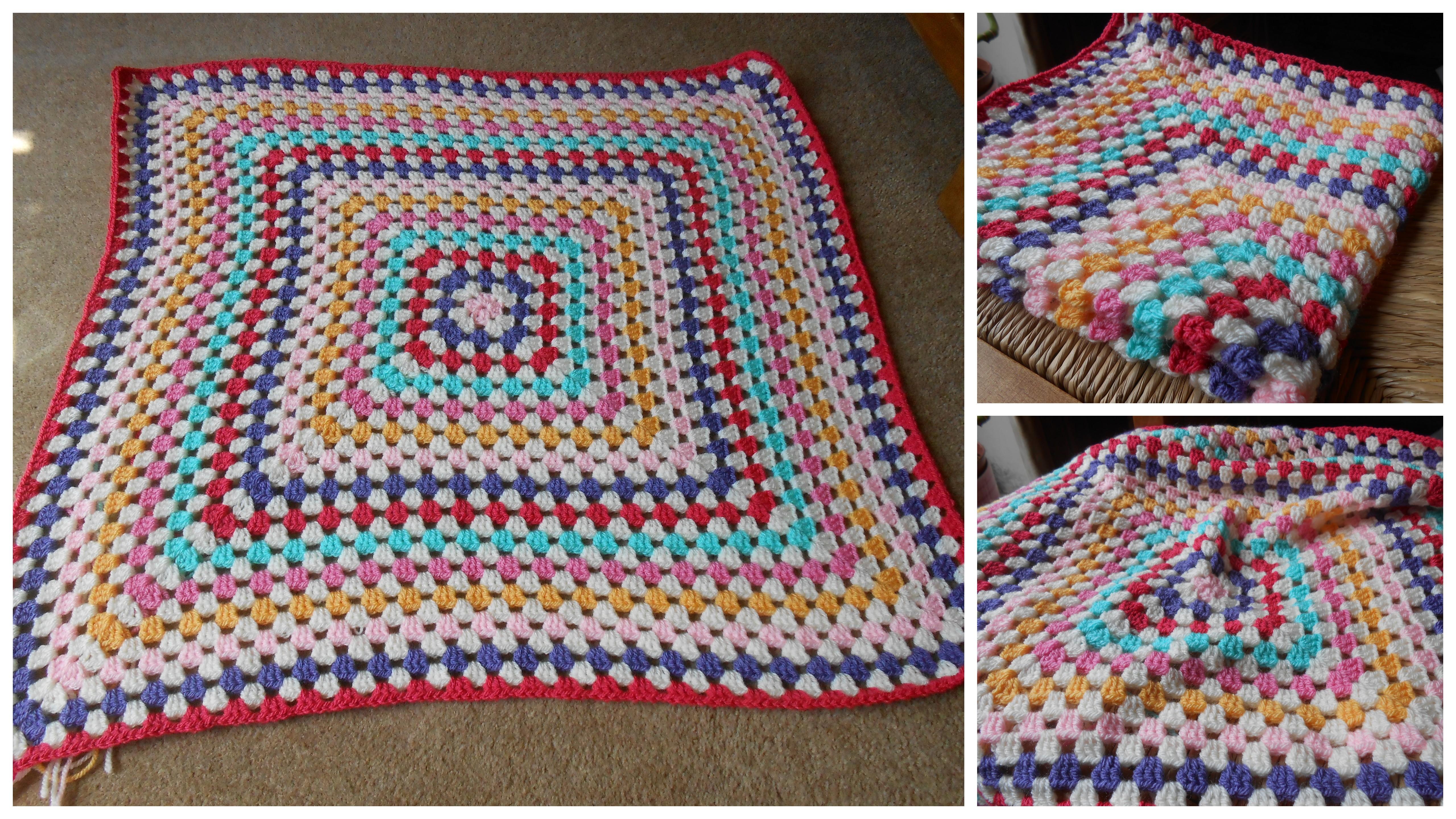 Granny Square Blanket Cuteasabutton82